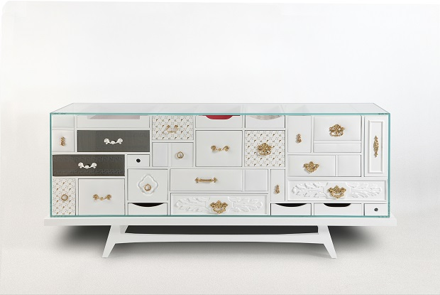 Mondrian Sideboard by Boca do Lobo  White buffets for your design home mondrian by boca do lobo