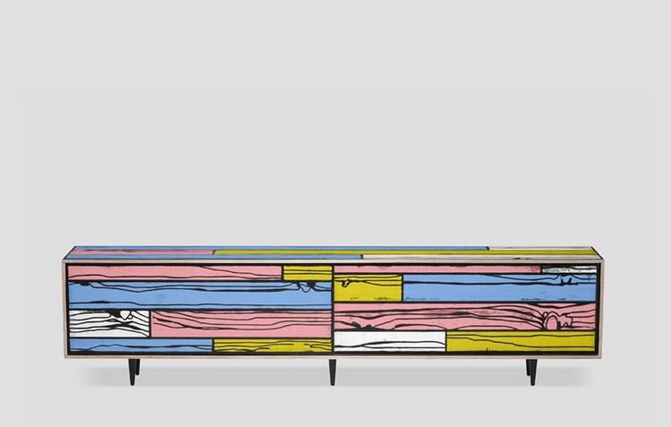Colorful Buffets and Cabinets by Richard Woods & Sebastian Wrong (10)