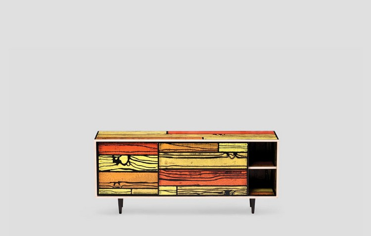 Colorful Buffets and Cabinets by Richard Woods & Sebastian Wrong (2)