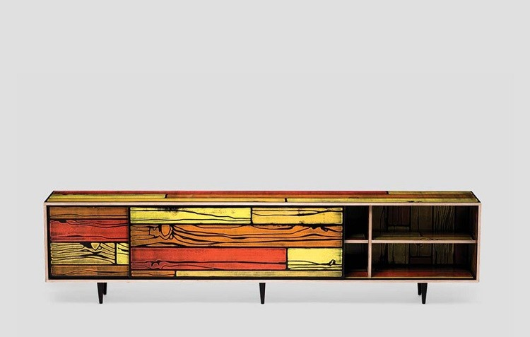 Colorful Buffets and Cabinets by Richard Woods & Sebastian Wrong (4)
