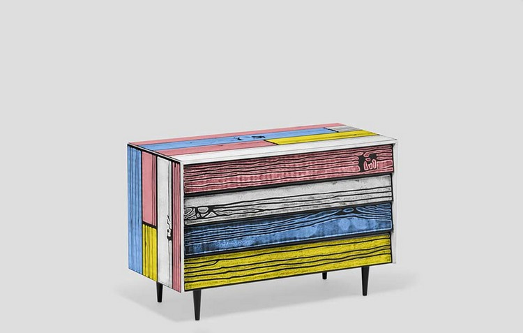 Colorful Buffets and Cabinets by Richard Woods & Sebastian Wrong (5)