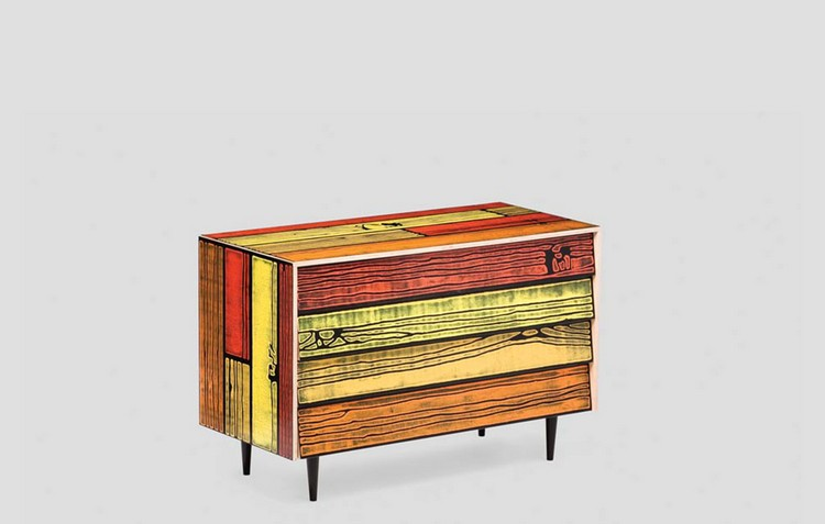 Colorful Buffets and Cabinets by Richard Woods & Sebastian Wrong (6)
