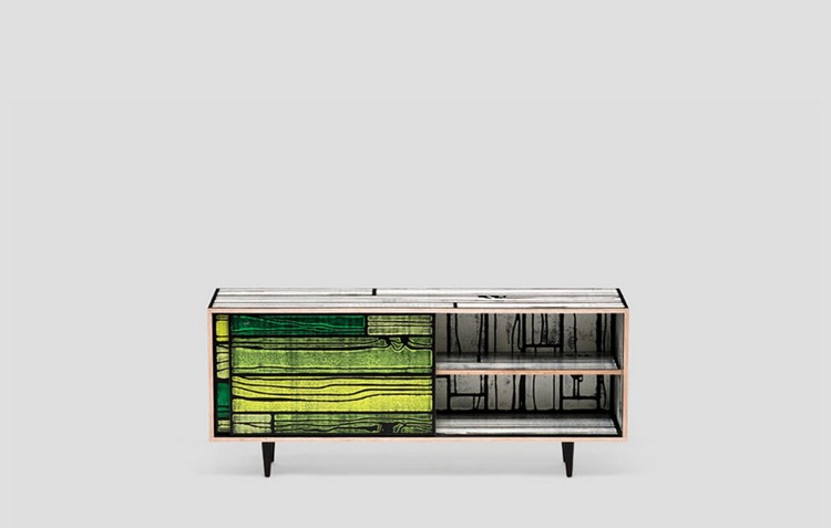 Colorful Buffets and Cabinets by Richard Woods & Sebastian Wrong (7)  Colorful Buffets and Cabinets by Richard Woods & Sebastian Wrong Colorful Buffets and Cabinets by Richard Woods Sebastian Wrong 7