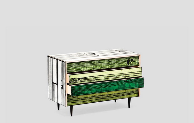 Colorful Buffets and Cabinets by Richard Woods & Sebastian Wrong (9)
