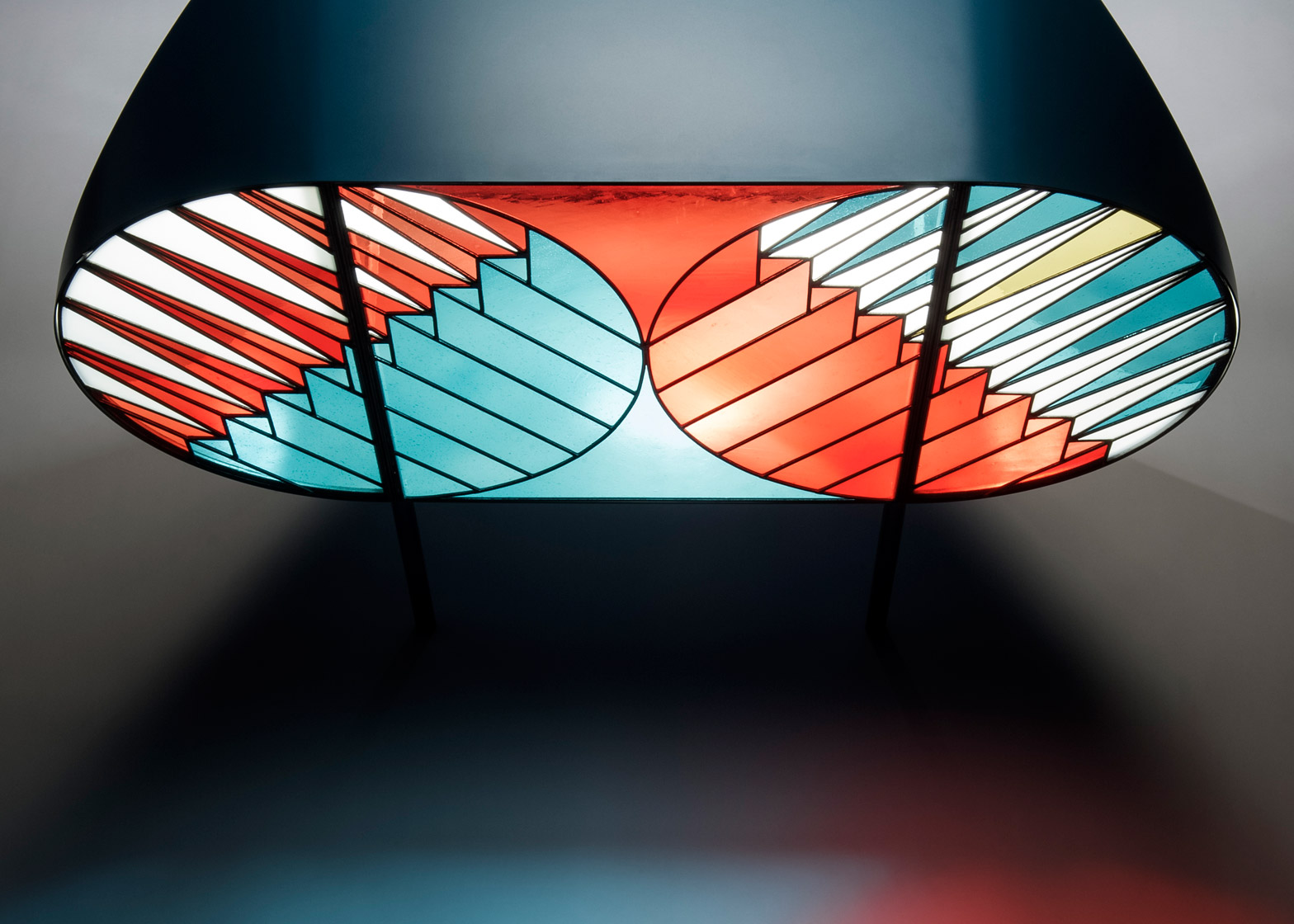 Contemporary Cabinet with Stained-Glass Doors by Patricia Urquiola (2)