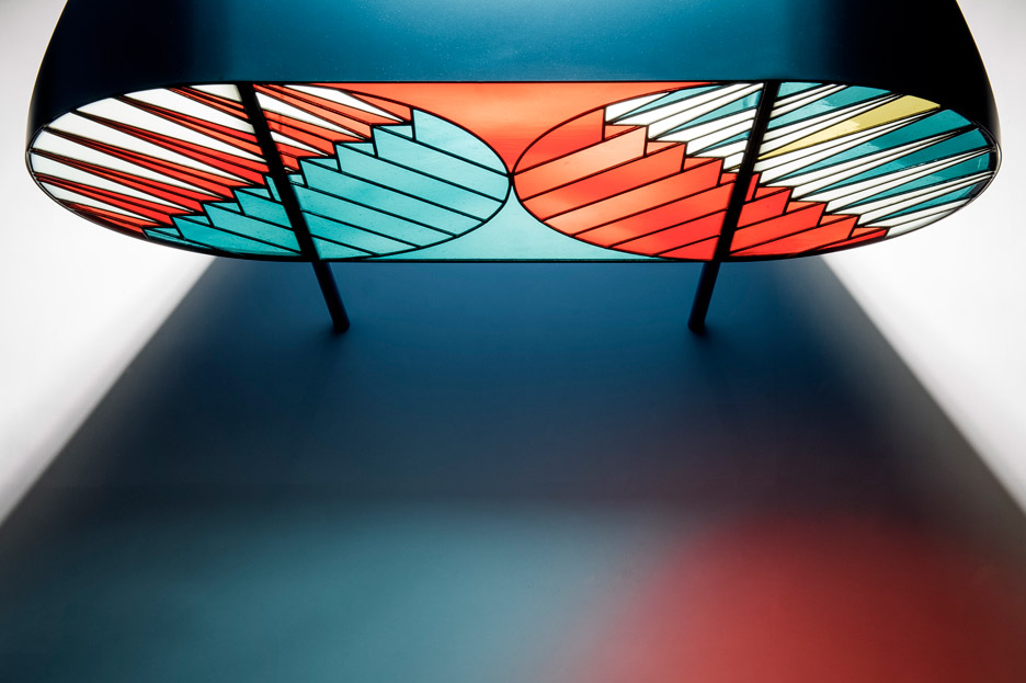 Contemporary Cabinet with Stained-Glass Doors by Patricia Urquiola (4)
