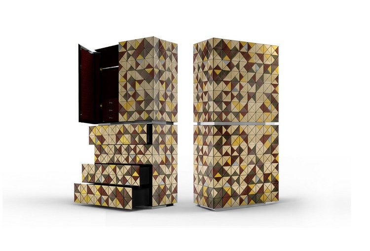 pixel_adonized_01 metal cabinet Metal Cabinet Design - PIXEL ANODIZED by Boca do Lobo pixel adonized 01