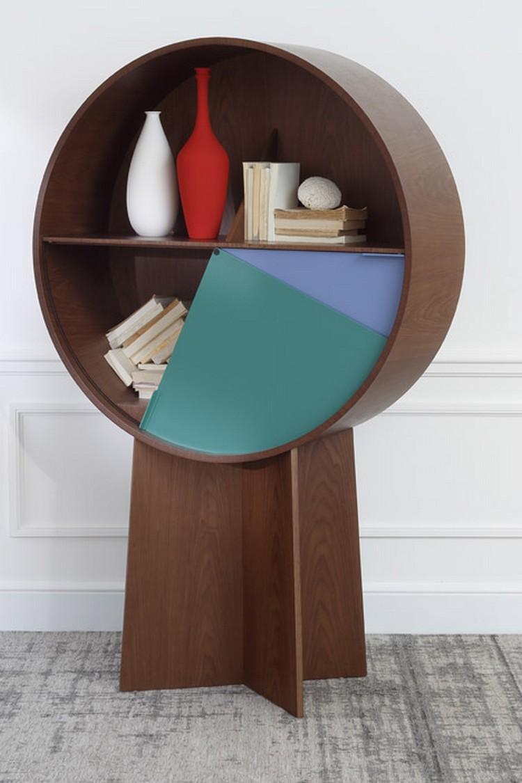 Luna Circular Cabinet Patricia Urquiola Luna Circular Cabinet by Patricia Urquiola Luna Cabinet by Patricia Urquiola Maison Objet 2015 b dezeen 468 3