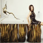 Gold Buffets and Cabinets for Luxury Interiors