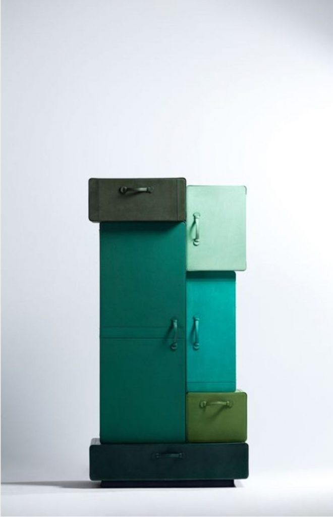 Modern Cabinets Filled With A Color Gradient by Maarten De Ceulaer