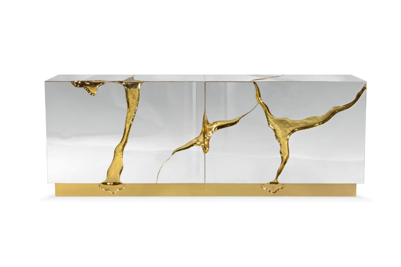 Incredible Brass Details On The Most Luxurious Modern Cabinets  Imposing Furniture: Brass Modern Cabinets For A Luxury Design Incredible Brass Details On The Most Luxurious Modern Cabinets 9