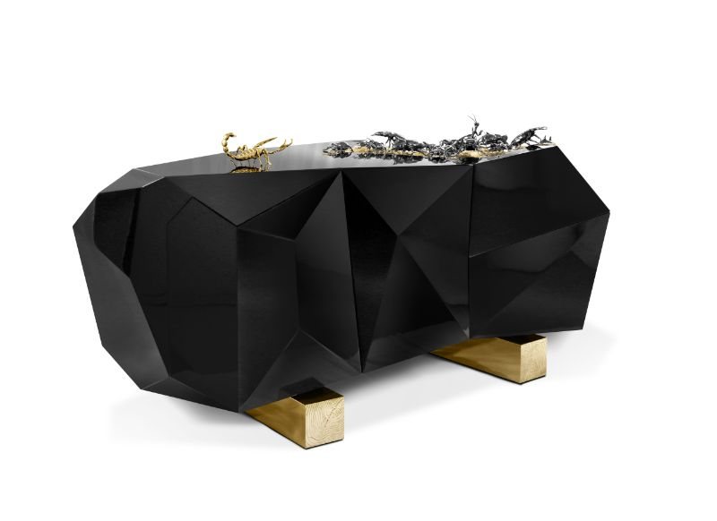 Black Modern Buffets And Cabinets By Boca do Lobo For A Refined Design