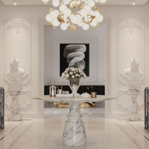 Get The Look Of A Luxury Penthouse's Modern Entryway Design