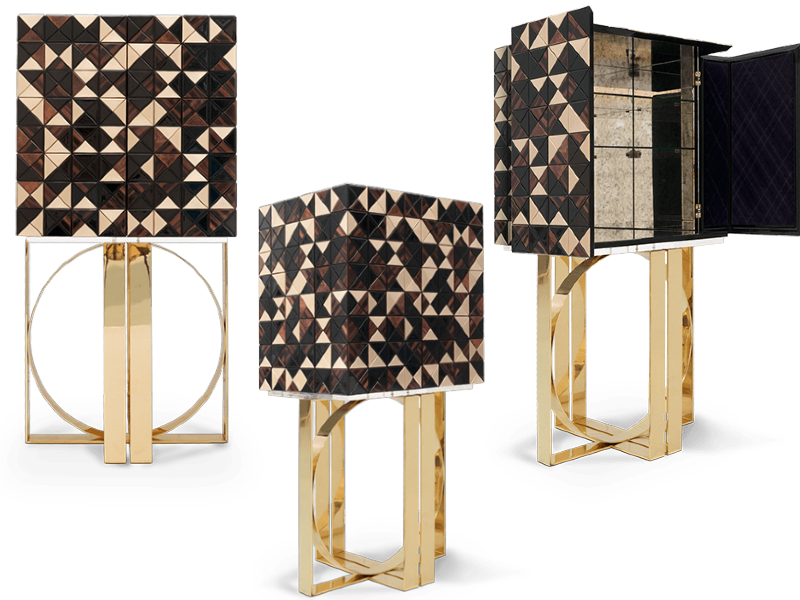 The Splendour Of Your Interior Design:    30 Exclusive Golden And Black Luxury Cabinets