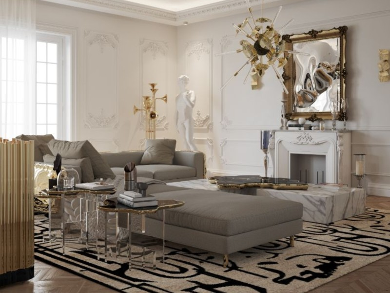 Black Furniture Pieces For A Luxury Living Room Design