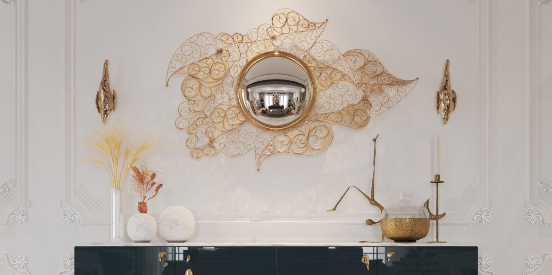 luxury mirrors to make your master bedroom bigger filigree mirror