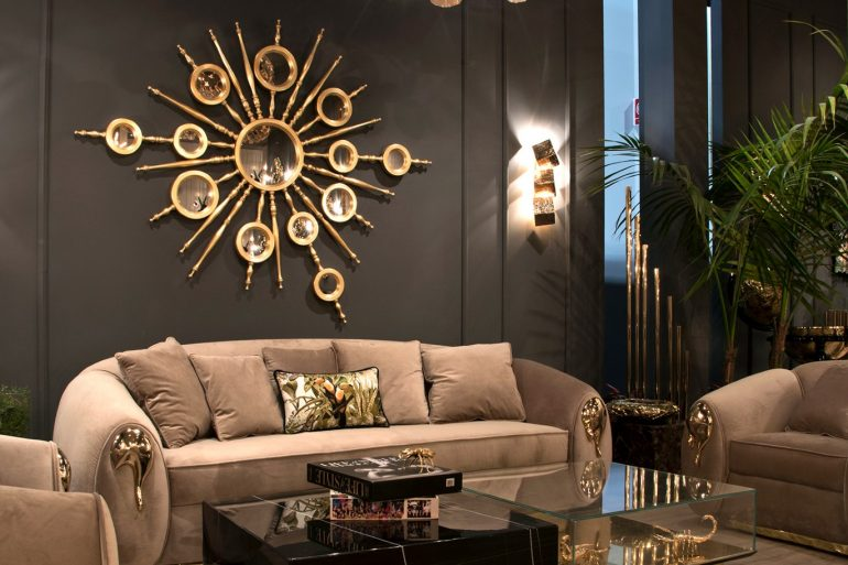 Classic wall lamps - luxury living room